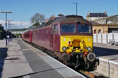 Off to BardLand (JohnGreyTurner) Tags: br rail uk railway train transport engine locomotive scarborough yorkshire 57 class57 bodysnatcher 47 class47 duff wcrc charter railtour