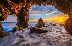 Malibu Sea Cave Sunset! Red, Orange, Yellow Clouds El Matador State Beach PCH California Sunset! God Spilled Buckets of Paint  Nikon D810 AF-S NIKKOR 14-24mm F2.8G ED from Nikon! California Sunsets Elliot McGucken Fine Art Landscape Nature 4K 8K (45SURF Hero's Odyssey Mythology Landscapes & Godde) Tags: malibuseacavesunsetred orange malibu sea cave sunset red yellow clouds el matador state beach pch california god spilled buckets paint nikon d810 afs nikkor 1424mm f28g ed from sunsets elliot mcgucken fine art landscape nature 4k 8k