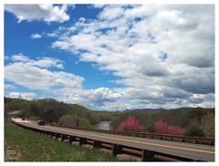 Shenandoah River South Fork (daveelmore) Tags: hwy340 virginia va shenandoah landscape shenandoahriver southfork southforkshenandoahriver highway road spring clouds travel