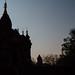 Silhouette Of Bagan Temple at Dusk, Myanmar