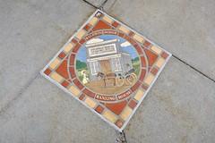 Tile Mosaic, Council Bluffs, IA (Robby Virus) Tags: councilbluffs iowa ia tile mosaic tiles sidewalk historic scene baldwin dodge bank banking house