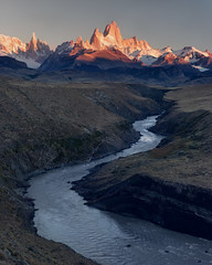 River Deep Mountain High (Andrew G Robertson) Tags: fitzroy cerro torre river patagonia argentina sunrise