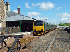 150002 Barnstaple (4) (Marky7890) Tags: gwr 150002 2f43 class150 sprinter barnstaple railway devon tarkaline train