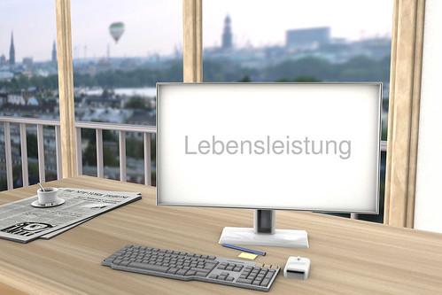 Lebensleistung-auf-Bildschirm