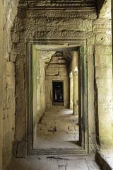 Angkor Thom Temple Hall (oldbourbonguy) Tags: cambodia siemreap siemreapprovince angkorthom temple hallway