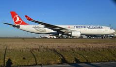 "TC-JOE, Airbus A330-303, c/n 1571, Turkish Airlines, ""Diyarbakır"", CDG/LFPG 2019-02-17, taxiway Alpha-Loop. (alaindurandpatrick) Tags: tk thy thyturkishairlines turkishairlines türkhavayollari turkish airlines airliners airbus airbusa330 airbusa330300 a330 a333 a330300 cdg lfpg parisroissycdg airports aviationphotography tcjoe cn1571"