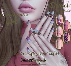 .:: StunnerOriginals ::.Gift Nails Applier Dyed (Stunner Originals) Tags: nails 50shadesoflindens event applier maitreya belleza