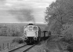 Coughing on the climb (Treflyn) Tags: br blue brcw class 331 33 crompton 33102 sophie clag climb hill foxfield colliery train freight mineral wagon emrps east midlands railway photographic society photo charter