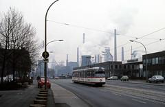 In Schimanskis Wohnzimmer (trainspotter64) Tags: strasenbahn streetcar tram tramway tranvia tramvaj tramwaje nrw ruhrgebiet duisburg stahlwerk steelmill industrie vrr düwag gt8 rheinland