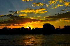 Sunset over Chao Phraya (Kyp-chan) Tags: thailand bangkok กรุงเทพมหานคร บางกอก chaophraya แม่น้ำเจ้าพระยา sunset travel landscape paysage coucherdesoleil voyage