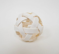 6 Weave Ball from 3 Squares (Ponadr) Tags: origami paper fold geometric art sculpture
