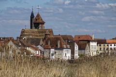 Saint Jean-de-Losne (Lucille-bs) Tags: europe france bourgognefranchecomté bourgogne côtedor saintjeandelosne paysage ville église clocher eglisesaintjeanbaptiste