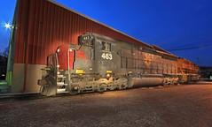 The odd Duck (GLC 392) Tags: bp bprr sp southern pacific buffalo pittsburgh railroad railway train emd sd45 sd45r sd452 shops butler pa pennsylvania night time trio
