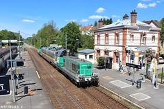BB(4)69484 - ME100 - Train n°812316 Gisors > Achères-Triage (nicolascbx) Tags: bb69400 bb69484 bb69451 ies142 sncf sncfinfra sncfréseau infra measurementtrain messzug messwagen train zug chemindefer gare station boissylaillerie vexin valdoise gisors achèrestriage vb2n bâtiment 812316