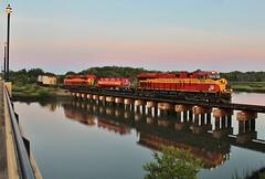 FEC 218 in St Augustine (James Patrick Kolwyck) Tags: fec florida east coast railway intermodal st augustine fl san sebastian river railfan railroad photography ge gevo es44ac lng