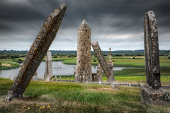 Leaning Gravestones in Clonmacnoise