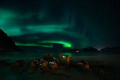 Wild Skies - Northern Lights - Lofoten (virtualwayfarer) Tags: moskenes nordland norway northernlights aurora lofoten norwegian nordic arcticcircle mountains fjord longexposure nightphotography landscape starphotography astrophotography auroraborealis polarlights astro clearsky peaceful starsstarynight sonyalpha a7rii travel travelphotography travelphotographer adventure adventurephotography northernlatitude roadtrip indietravel wild explore exploring dramaticnature aweinspiring weather calm dancinglight kp3 arctic arcticphotography march snow snowy cold magnetosphere scandinavian mirror reflectionnight moskenesmunicipality nordlandcounty mountain valley sea seaside solarstorm dramatic dramaticlight singleshot alexberger bay seascape ocean arcticsea ytresand sandbotnen