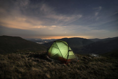 Room For One (Russell-Davies) Tags: wildcamping camping tent msr astro stars night glasgow lochlomond highlands uk scotland canon 6dmkii longexposure hiking landscape mountains tullichhill luss clouds spring lights msrtents nightsky