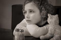 Longing (Slobodan Blagojevic) Tags: girl child blackandwhite blackwhite childhood boredom toy portrait