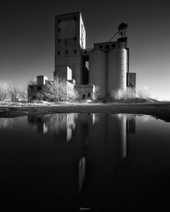 SILOS (Nenad Spasojevic) Tags: spasojevic monoart nenografiacom sonyalpha contours abandoned blackandwhite white silos infraredlight 830nm nenadspasojevicart bw black shadow bealpha sony in reflections nenad a7r perspective ir tones infrared farm 2019 architecture fineart shades indiana light monochrome chicago illinois il