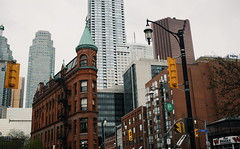 In the Midst of it All (Breanna.m) Tags: toronto downtown gooderhambuilding buildings flatironbuilding urban streetphotography 5dclassic 40mm