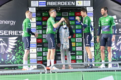 Tour Series Aberdeen 2019 on the podium (18) (Royan@Flickr) Tags: tour series aberdeen 2019 podium bicycle race scotland uk cycling lycra shorts teams sport ovo energy