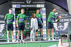 Tour Series Aberdeen 2019 on the podium (15) (Royan@Flickr) Tags: tour series aberdeen 2019 podium bicycle race scotland uk cycling lycra shorts teams sport ovo energy