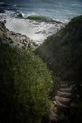 Santa Cruz Stairway (amymedina.photoart) Tags: seascape sea ocean water waves blue coastal coast nautical shore oceanic santacruz california beams rays sun clouds heavenly sunset seascapes landscapes path
