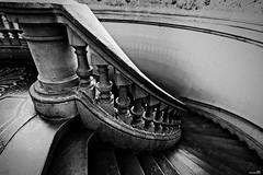 Descente aux enfers (Un jour en France) Tags: escalier stairs noiretblancfrance noiretblanc canoneos6dmarkii canonef1635mmf28liiusm art marche lille leshautsdefrance