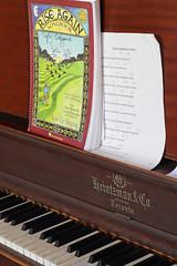 EloraCafeCrêperieOfEloraPianoSongbook (peterkelly) Tags: digital canon 6d northamerica canada ontario elora cafe crêperieofelora piano restaurant crepe crepes sheet music key riseagainsongbook