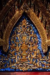 The Insignia of King Rama V, Wat Ratchabophit (aey.somsawat) Tags: architecture bangkok buddhisttemple insigniaofkingramav kingchulalongkorn kingramav ornaments ornamentsinthaiarchitecture phrakieo temple thaiarchitecture thailand wat watratchabophit
