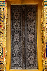 Mother of Pearl Inlay Doors, Phra Ubosot, Wat Ratchabophit (aey.somsawat) Tags: architecture bangkok buddhisttemple motherofpearlinlay ornaments ornamentsinthaiarchitecture temple thaiarchitecture thailand ubosot wat watratchabophit