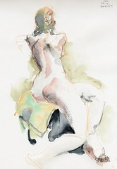 20190515_Dani_01 (r0sejam) Tags: dani art 2019 drawing dessin uolartsociety sketch abbozzo nude bosquejo figuredrawing disegno femalefigure dibujo lifedrawing croquis a4 watercolour 10minute