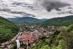 Foix (tomas.jezek) Tags: landscape panorama vista viewpoint city cityscape mountains hills sky green town history historical france foix occitanie
