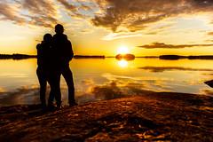 Looking sunset together (VisitLakeland) Tags: finland kallavesi kuopio kuopiotahko lakeland auringonlasku ilta järvi lake luonto maisema nature outdoor scenery sunset