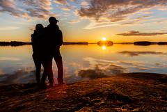 Looking sunset together 2 (VisitLakeland) Tags: finland kallavesi kuopio kuopiotahko lakeland auringonlasku ilta järvi lake luonto maisema nature outdoor scenery sunset