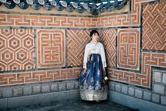 Beautiful girl in traditional korean costume hanbok (kitsunekuma) Tags: fujinon fuji fujifilm xpro1 xf xf35mmf2 classic chrome temple beautiful colorful color traditional gyeonbokgung palace hanbuk beauty girl dress korea korean seoul