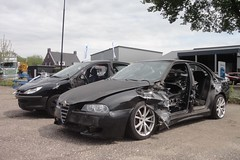 Alfa Romeo 156 1.8 TS 30-10-2003 19-NK-JK (Fuego 81) Tags: alfa romeo 156 2003 19nkjk onk sidecode6 peugeot 206