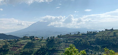 View of the Volcanoes on the way to Volcanoes National Park (2019 AFR D15-0002) (Butterflies in Still Air) Tags: view volcanoes volcano