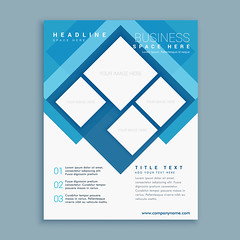 stylish blue brochure flyer design template with square shapes (diptasaha.lpu.cse) Tags: business flyer brochure leaflet corporate template presentation layout page banner publication promotional modern company organization print branding identity magazine cover document catalog creative report office card marketing poster advertise design annual
