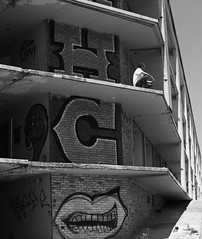 Tuesday Evening (GBrister) Tags: colorless awesome beautiful fantastic nice cool dope abandoned old graffiti atl atlanta man men person people monochromatic monochrome bnw blackandwhite canoneosr canon