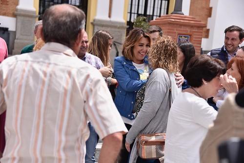 Susana Díaz en Valverde del Camino (Huelva)