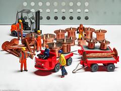 Tiny People -  Fahrerstreik im Kupferlager (J.Weyerhäuser) Tags: 187 h0 kupfer nagel nochfiguren tinypeople wiking