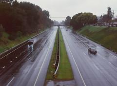 Sunnyvale, California (bior) Tags: pentax645nii pentax645 6x45cm ektachrome e200 kodakektachrome slidefilm mediumformat 120 sunnyvale centralexpressway expressway rain road street