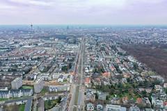 Straßensperrung der Aachener Straße während der Bombenentschärfung (Fliegerbombe) in Köln Braunsfeld 14.12.2018