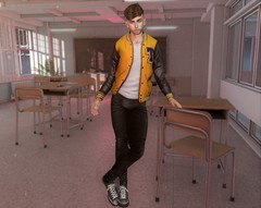 Jock Energy (EnviouSLAY) Tags: yellow classscene classroom class room scene kalback secondlifefashion secondlifephotography riot semller modulus brunette jock leggings sneakers lowtops low tops letterman jacket black white newreleases new releases tmd themensdepartment the mens department belleza bento jake lelutka andrea mensmonthly mensevent mensfair mensfashion monthlymen monthlyfashion monthlyfair monthlyevent monthly men event fair fashion pale male gay lgbt blogger secondlife second life photography anthem