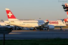 HB-JCT Airbus A220 Swiss (@Eurospot) Tags: hbjct airbus a220 swiss toulouse blagnac