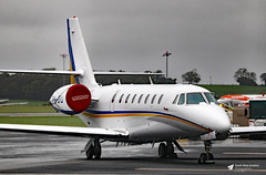 PH-JTJ Cessna 680 Citation Sovereign, Exxaero, Bristol Airport, Lulsgate Bottom, Somerset (Kev Slade Too) Tags: phjtj cessna680 citationsovereign exxaero flyingcentre eggd bristolairport lulsgatebottom somerset