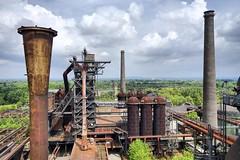 Abandoned steel production plant - Landshaftspark Duisburg-Nord HDR https://en.m.wikipedia.org/wiki/Landschaftspark_Duisburg-Nord (edwin van buuringen) Tags: ruhrgebiet urbanexploration urbex landshaftsparkduisburgnord sonya7 hdr blastfurnace factory abandoned