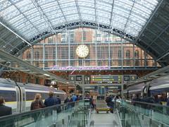 Disembarking from Eurostar at London St. Pancras International. (calderwoodroy) Tags: architecture trainshed eurostar stpancrasinternational railwaystation station london england